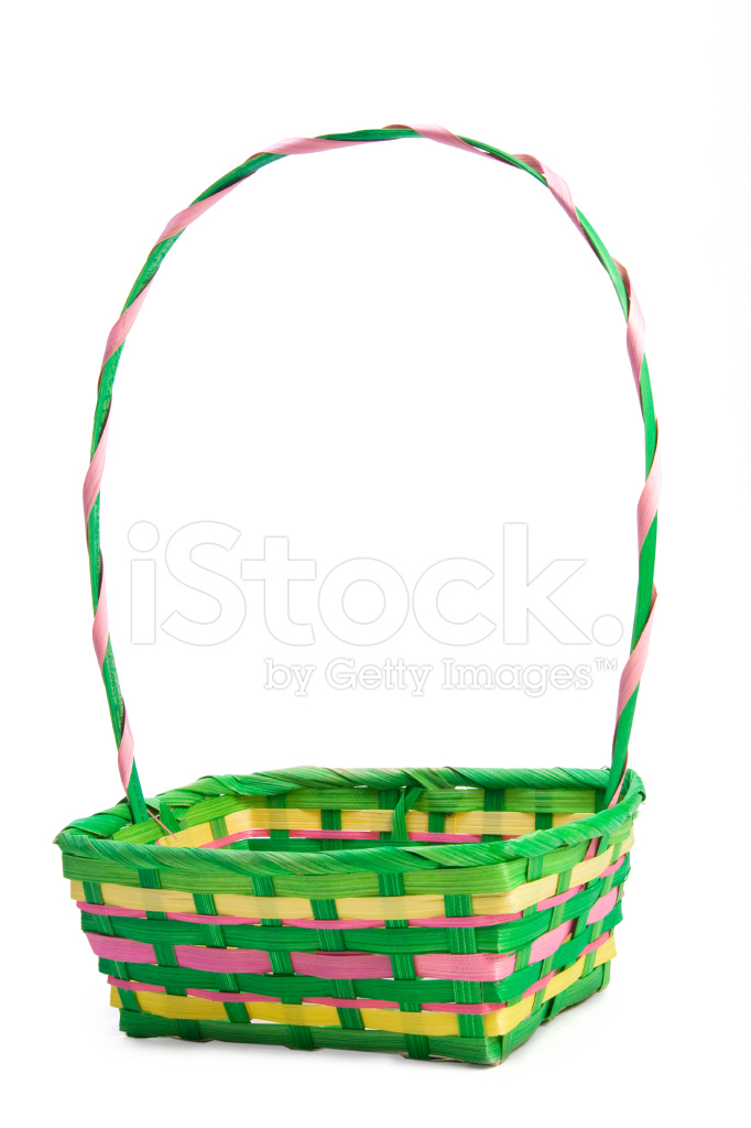 Empty Easter Basket Stock Photos