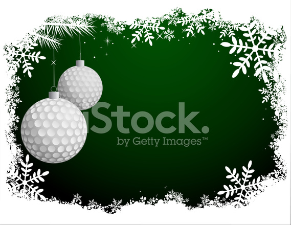 Christmas Sports Background.Golf Christmas Background Stock Vector Freeimages Com