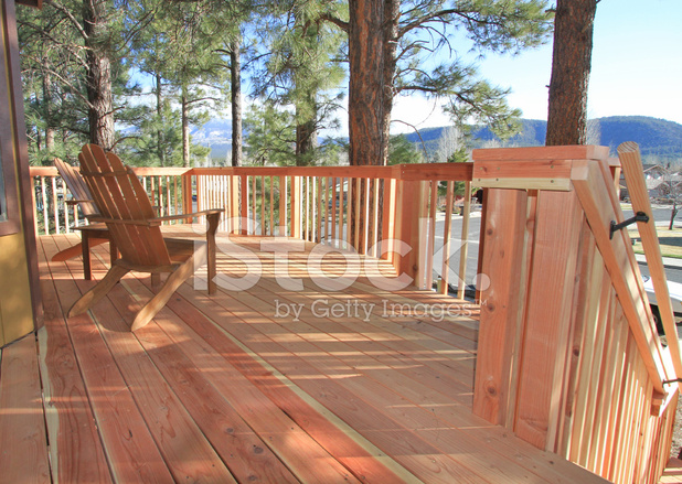 Redwood deck stock photos for Redwood deck plans