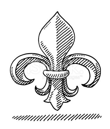 Fleur de lys symbole dessin stock vector - Symbole fleur de lys ...