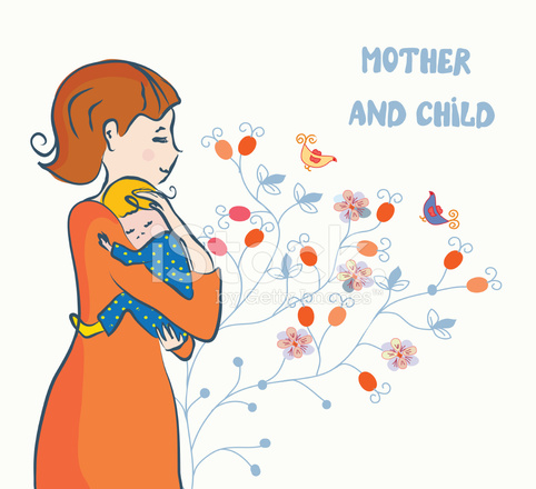 Мать и ребенок открытки 19