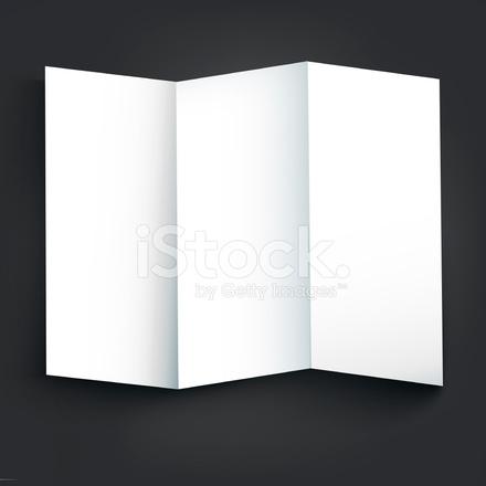 blank tri fold brochure design stock vector freeimages com