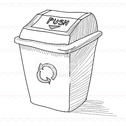 trash can sketch stock vector freeimages com