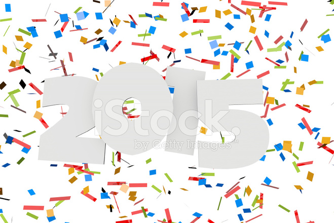 2015 New Year Confetti Background Stock Photos - FreeImages com