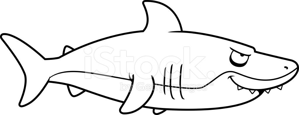 Perfil DE Tubarao Desenho Animado Fotos Do Acervo