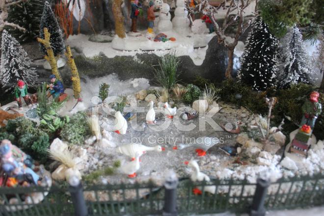 53967176-model-christmas-village-miniature-houses-people-winter-scene Spode Christmas Tree China