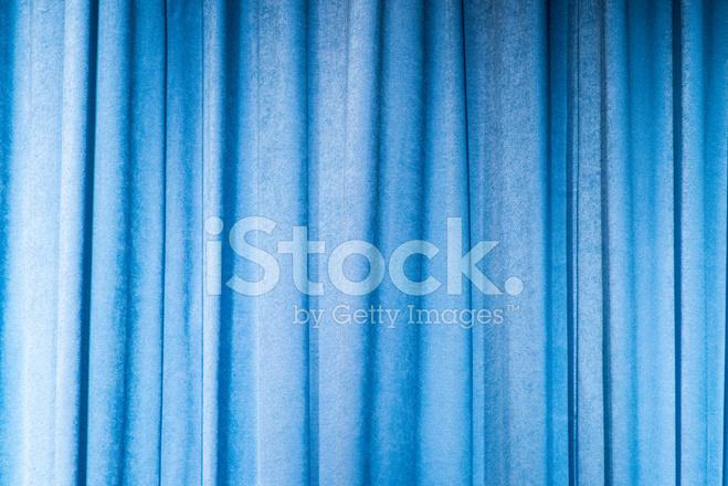 Blauwe Gordijnen Op Het Podium Stockfoto\'s - FreeImages.com