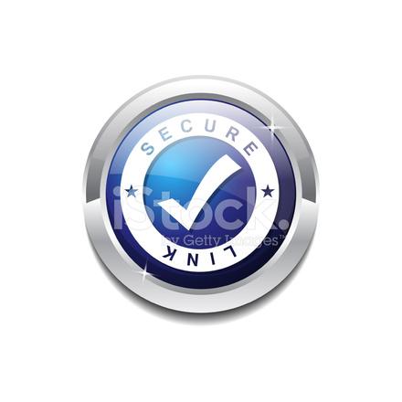 Sichere Verbindung Blaue Vektor Icon Schaltfläche Stock Vector ...