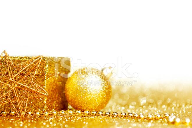 Decorazioni Natalizie Dorate.Decorazioni Di Natale Dorato Fotografie Stock Freeimages Com