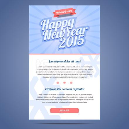 Happy New Year Urlaub Gruß E Mail Vorlage Stock Vector - FreeImages.com