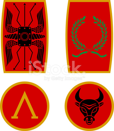Set Of Ancient Shields Stock Vector Freeimages