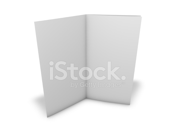 Flier, Leaflet With Blank White Pages and Shadow, Stock