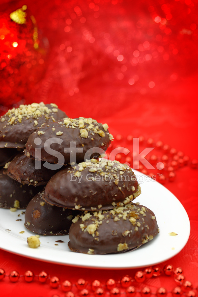 Traditional christmas dessert covered with chocolate stock for List of traditional christmas desserts