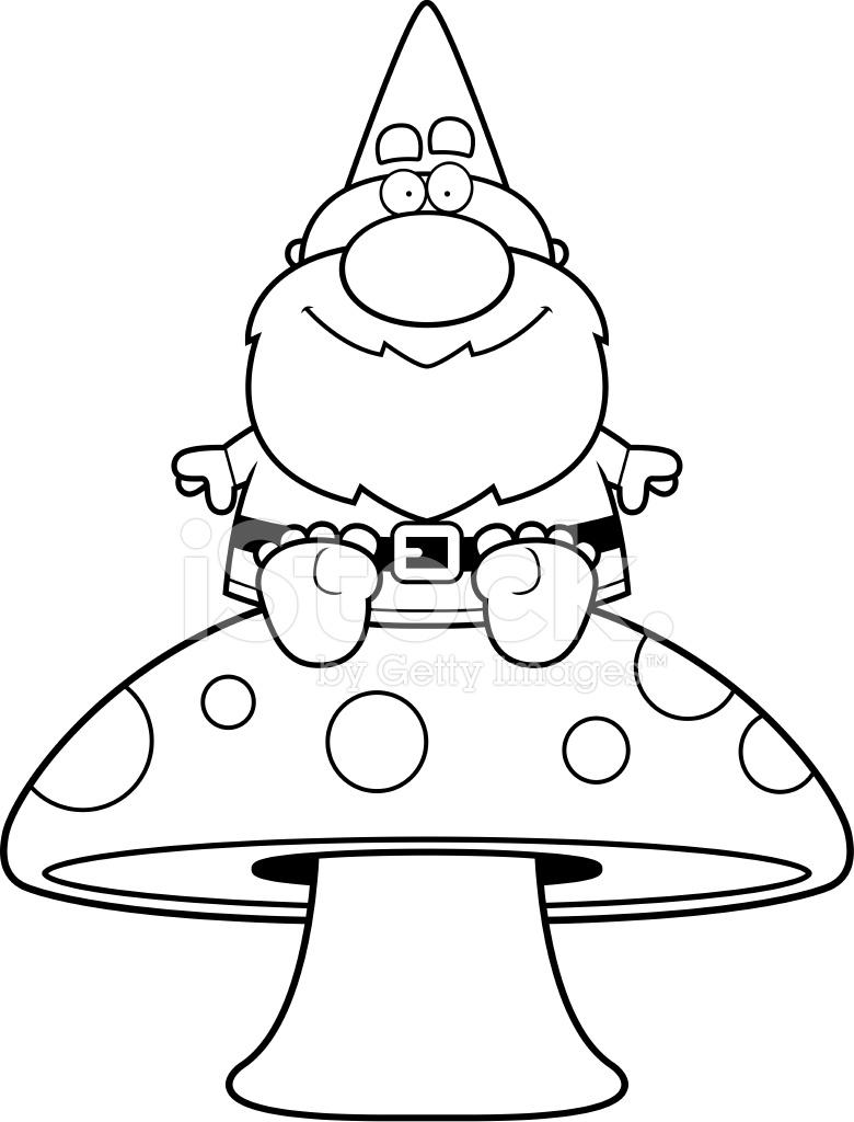 cartoon gnome mushroom stock vector   freeimages
