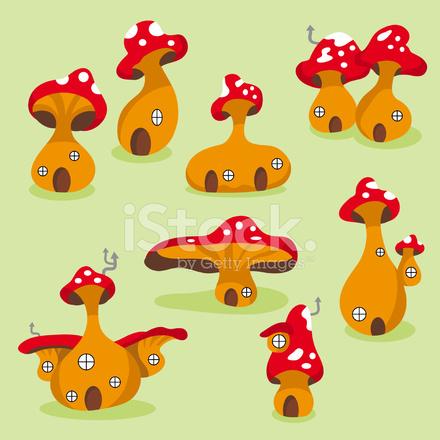 Cute Pilz Häuser