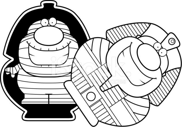 Sarcofago De Mumia Dos Desenhos Animados Stock Vector Freeimages Com