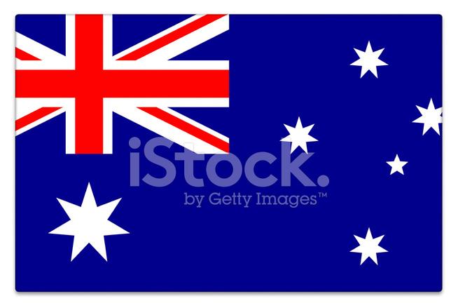 Avustralya Bayrağı Parlak Beyaz Stok Fotoğrafları Freeimagescom