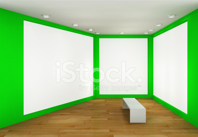 Illustration of A Museum Interior With 3 Frames Stock Photos ...