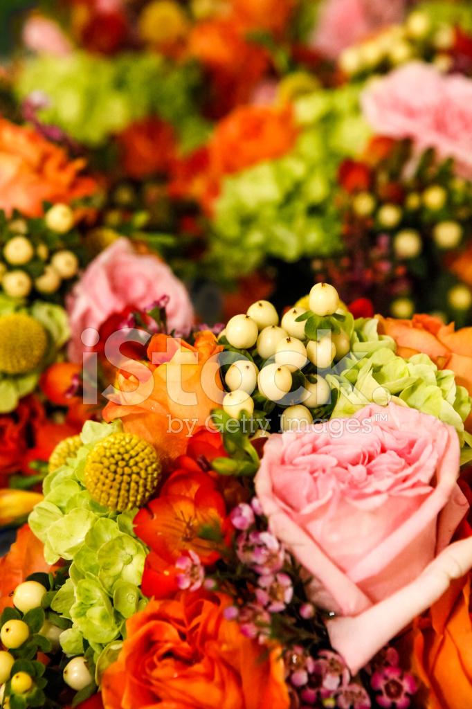 Primer Plano DE Ramos DE Flores Creando Un Fondo Floral Fotografas