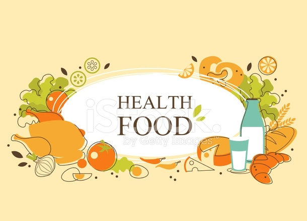 Healthy Food Background In Doodle Retro Style Stock Vector Freeimages Com