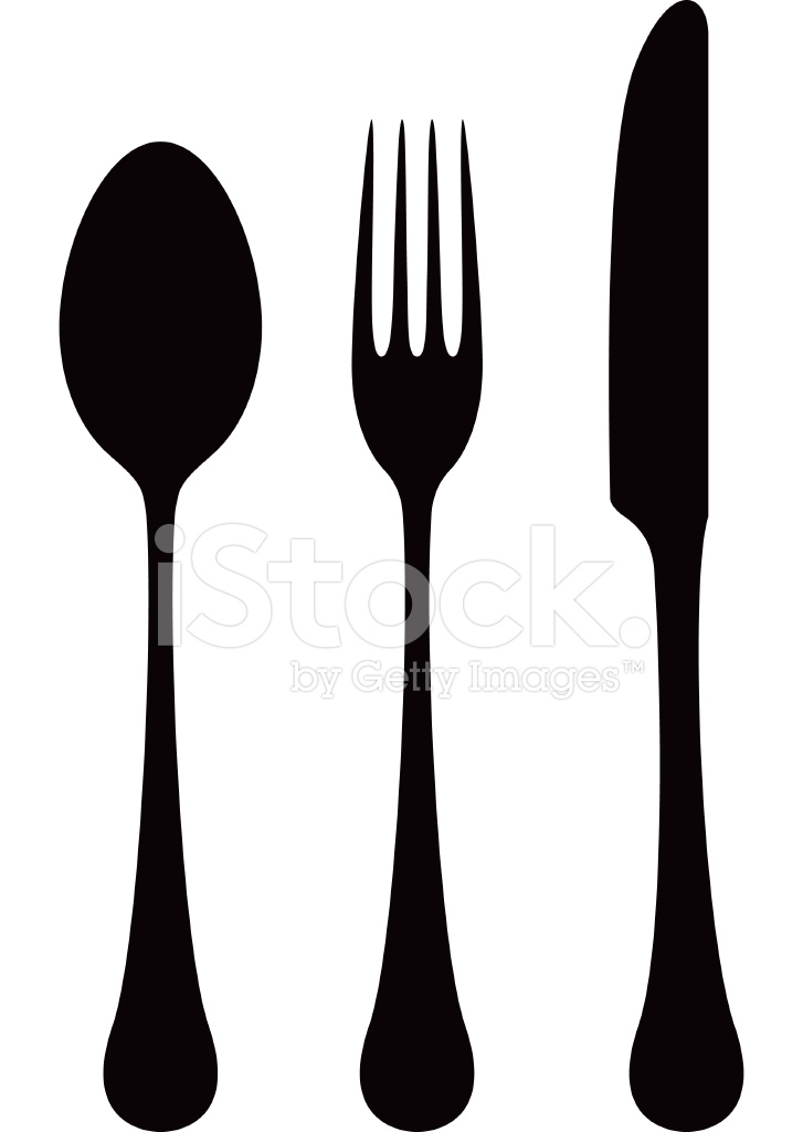 Cutlery Silhouettes Stock Vector FreeImagescom