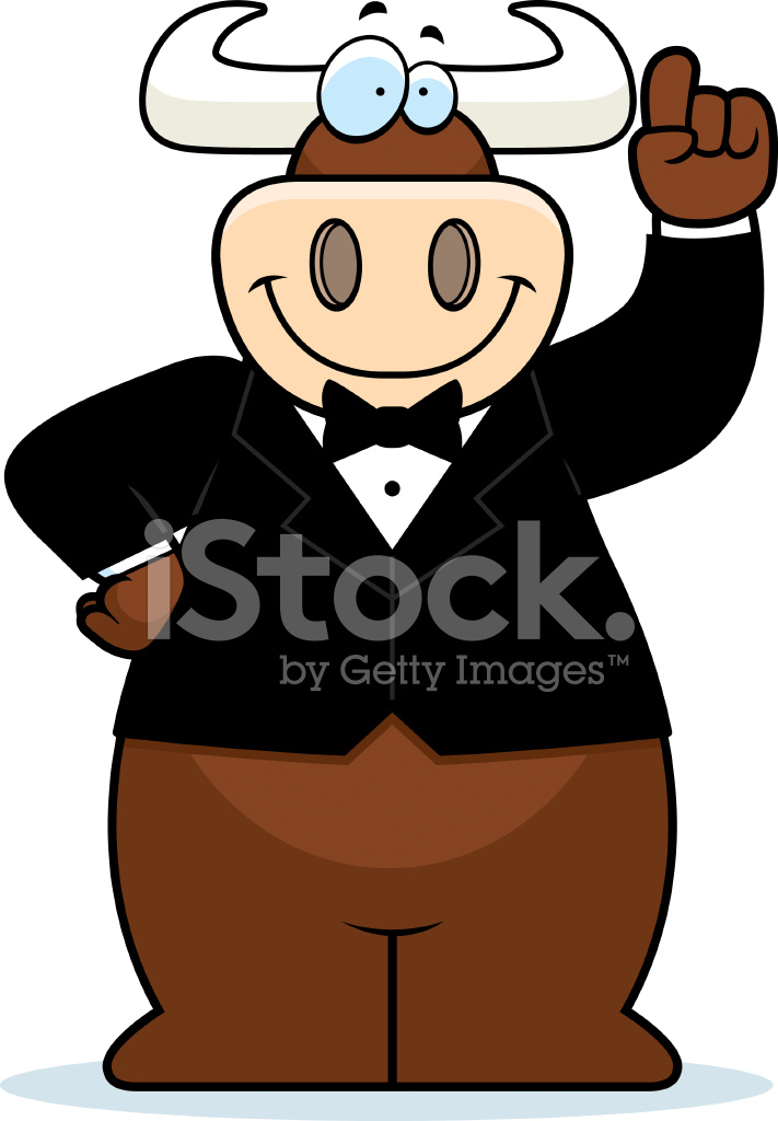 cartoon bull tuxedo stock vector - freeimages