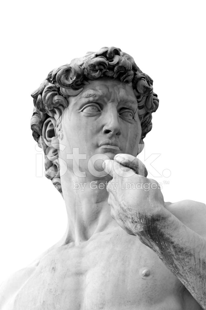 BW David Skulptur Von Michelangelo IN Florenz Stockfotos ...