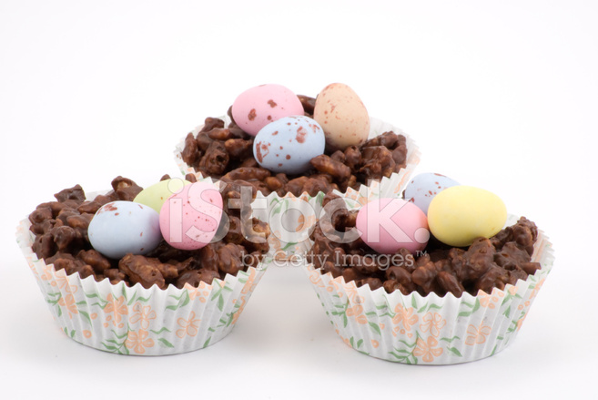 Chocolate Crispy Cake Easter Nests