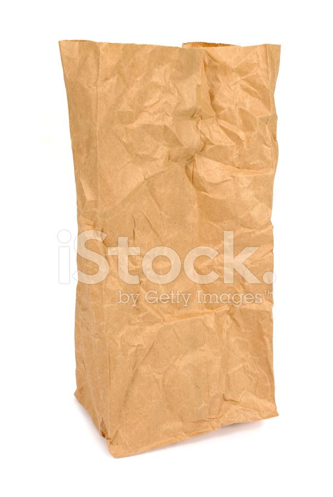 皱的牛皮纸袋