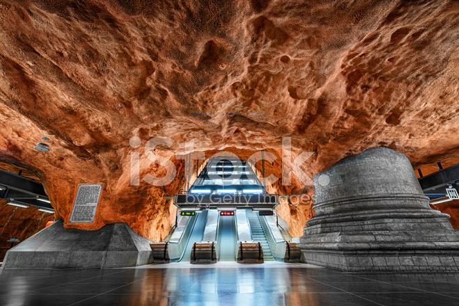 metro station in stockholm sweden stock photos