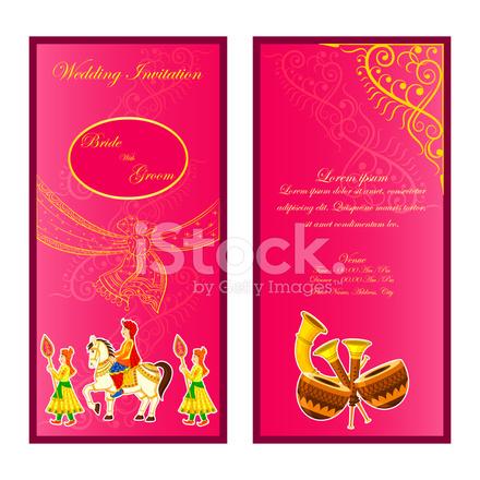 Indian wedding invitation card stock vector freeimages indian wedding invitation card stopboris Gallery