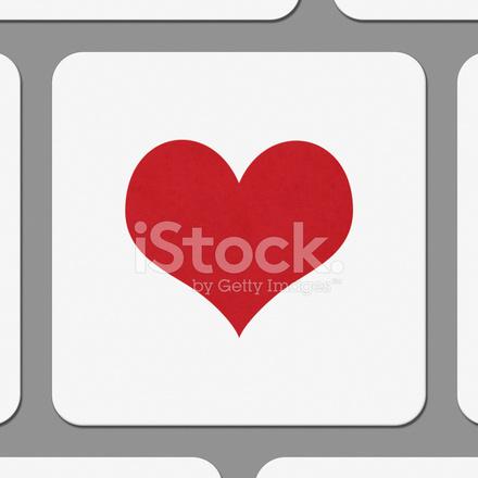 Símbolo De Forma De Coração Na Tecla Do Teclado Fotos Do Acervo