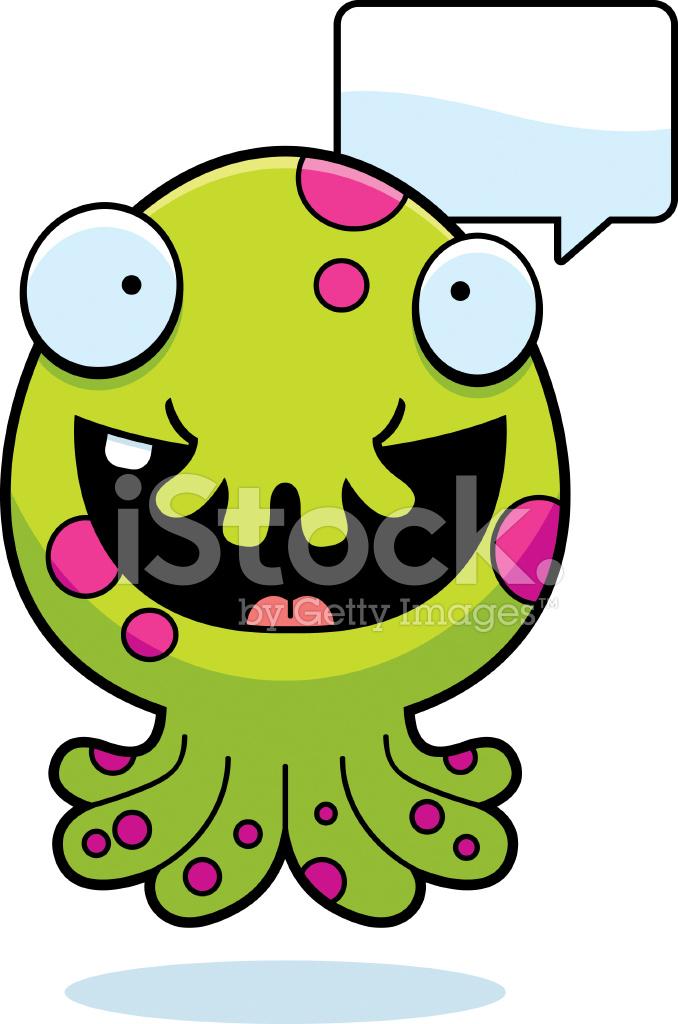 cartoon monster talking stock vector freeimages com