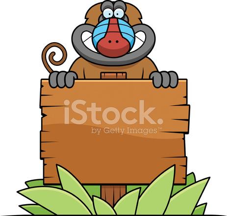 Signe de babouin de dessin anim stock vector - Dessin de babouin ...