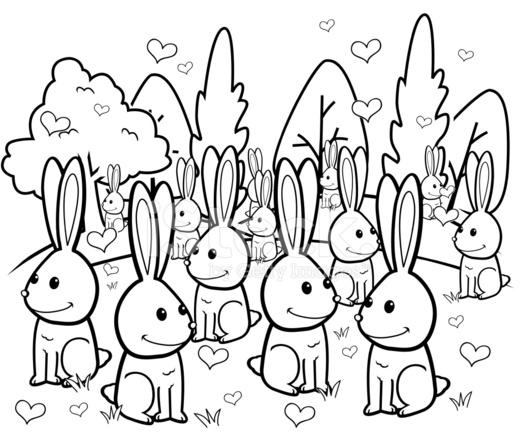 Rabbit Love Stock Vector Freeimages Com