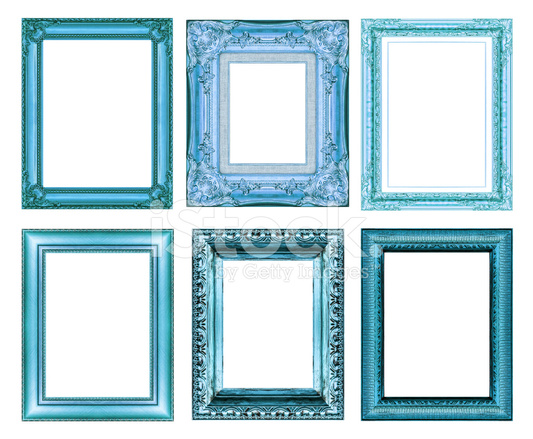 Set Of Vintage Blue Frame With Blank Space Stock Photos Freeimages