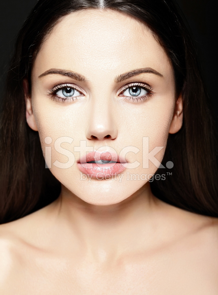 Beautiful Woman Model Without Makeup With Clean Skin Stock Photos - FreeImages.com