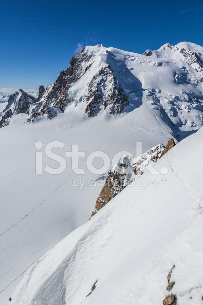 Utsikt Over Alperna Fran Aiguille Du Midi Chamonix Frankrike Stockfoton Freeimages Com