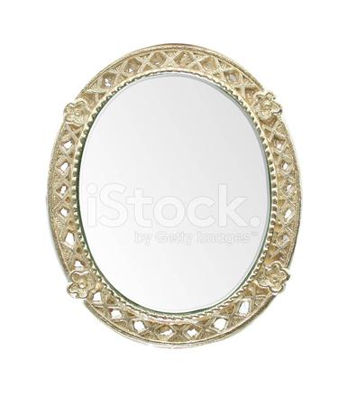 ovaler spiegel mit goldrahmen stock photos. Black Bedroom Furniture Sets. Home Design Ideas
