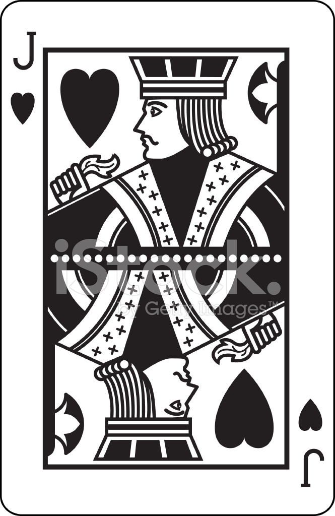 jack of hearts black stock vector