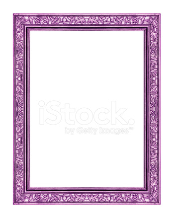 在白色的背景,与剪切分离的老式紫色框架 照片素材 Freeimages Com