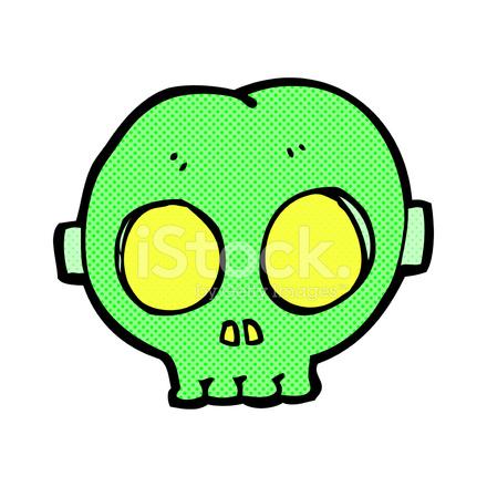 Komiska Tecknade Halloween Skull Mask Stock Vector