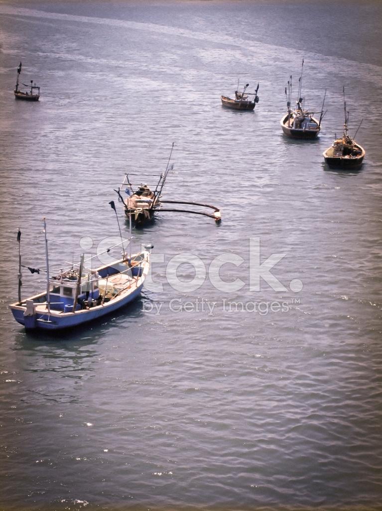 Fishing Motor Boats In Water Ratnagiri Maharashtra