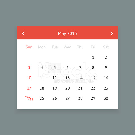 Page Calendrier.Page Calendrier Mai 2015 Stock Vector Freeimages Com