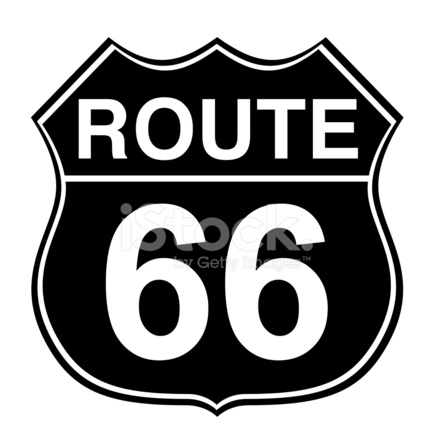 Route 66 Road Sign Stock Photos Freeimages