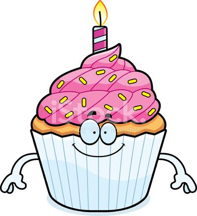 Dibujos Animados Feliz Cumpleaños Cupcake Stock Vector Freeimagescom