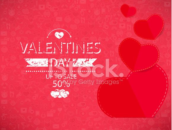 Vorlage Valentinstag Bis Verkauf 50 Karte Und Stock Vector