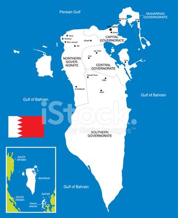 Karte Von Bahrain Stock Vector - FreeImages.com