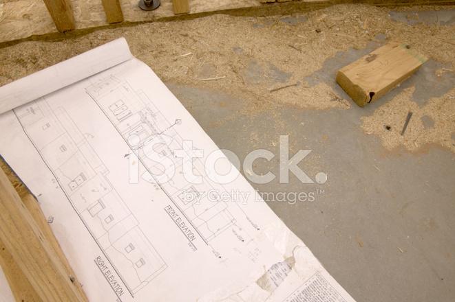 New House Plans Horizontal Stock Photos