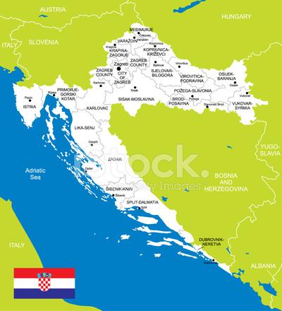 karta över kroatien Karta Över Kroatien Stock Vector   FreeImages.com karta över kroatien